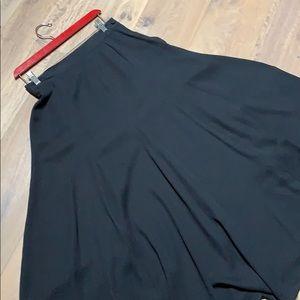 Vintage black crepe princess seamed skirt